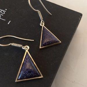 Pretty Blue Gold stone earrings